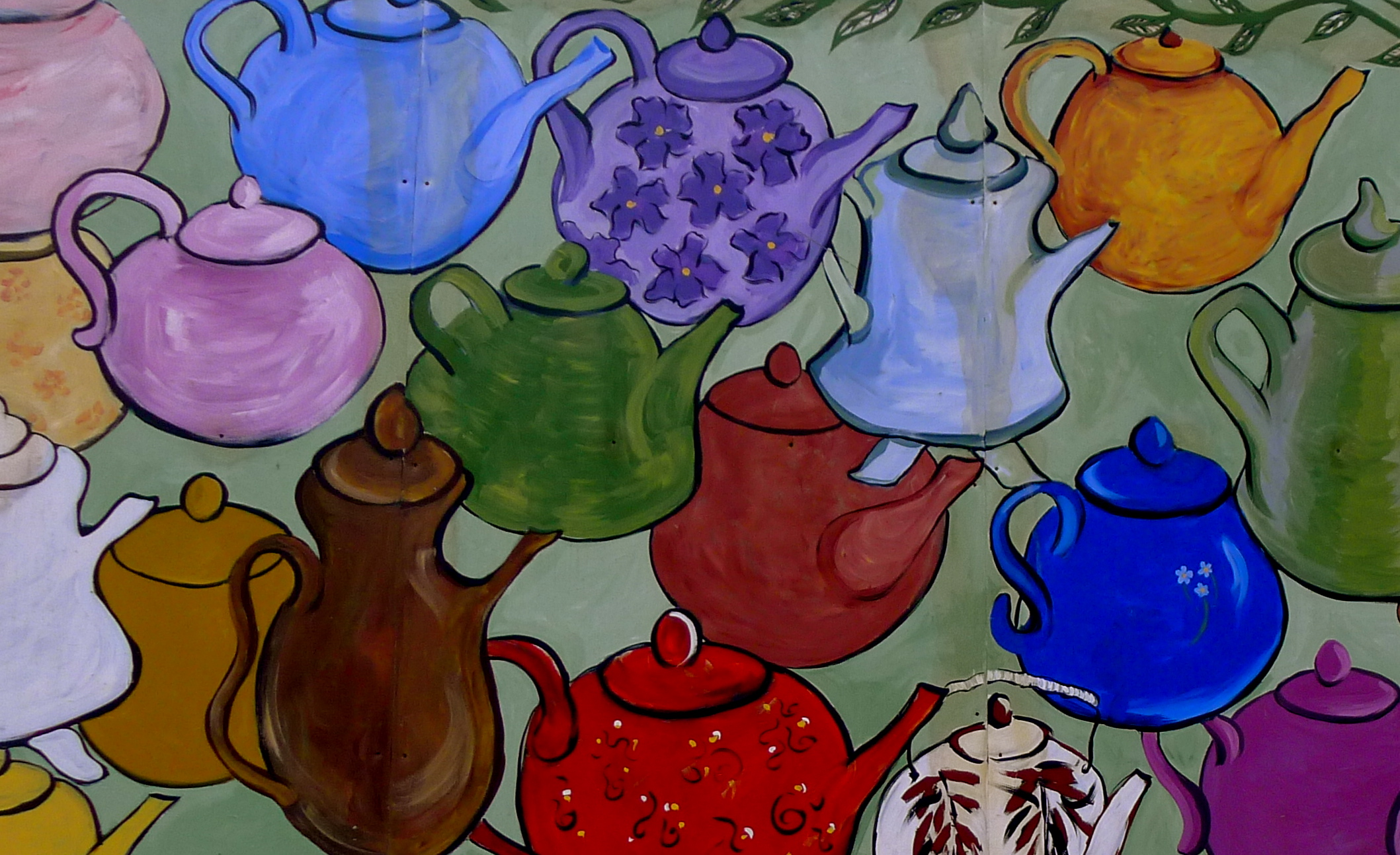 Color art printing anchorage - This Mural Of Tea Pots Covers One Side Of Kobuk Coffee Co In Downtown Anchorage It S Unexpected And Cheerful And Never Fails To Entice Me Into The